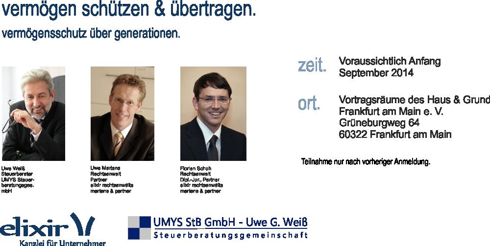 Erbrecht Vortrag Frankfurt September 2014