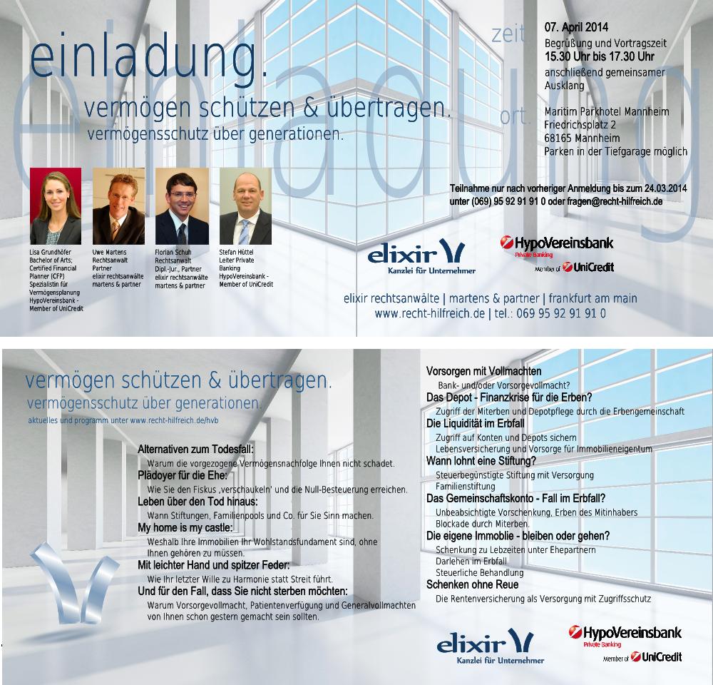 Votrag Erbrecht Mannheim April 2014
