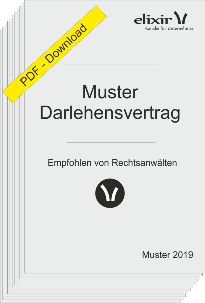 Muster Darlehensvertrag